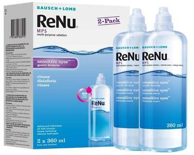 Bausch & Lomb Renu MPS Multi-Purpose Contact Lens Solution 2 Pack - 360ml