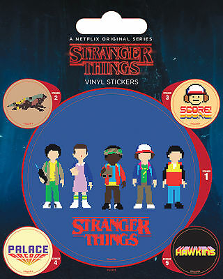 Stranger Things - Arcade - Stickerset Set 5 Sticker Aufkleber - ca 10x12,5 cm