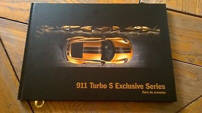 Brochure PORSCHE 911 TURBO S EXCLUSIVES SERIE 06/2017 : catalogue rigide A4 FR
