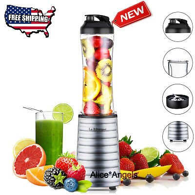 Portable 300W Personal Blender with 18 oz BPA Free Bottle Smoothie Juicer Mixer