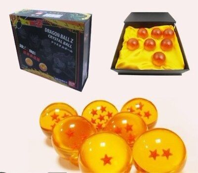 7pcs JP Anime DragonBall Z Stars 4CM Crystal Ball Collection Set With Gift Box