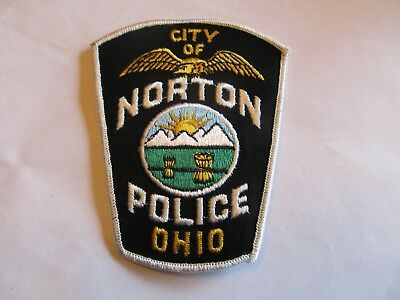 Ohio Norton Police Patch Old Cheese Cloth