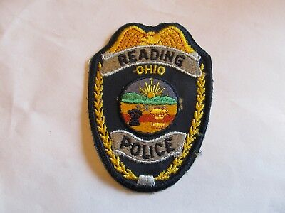 Ohio Reading Police Patch Old Cheese Cloth