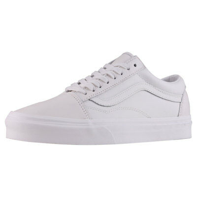 Vans Old Skool Unisex Off White Leather Trainers