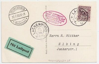 1930 Germany Zeppelin Cover, Incredible Rare Special Cancels, L@@k