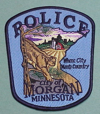 """Morgan Minnesota  Mn """" Where City Meets Country """"  Police Patch  Free Shipping!!"""