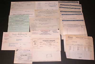 Various USA Cities States Lot 26 Vintage Billhead Business Paper Document