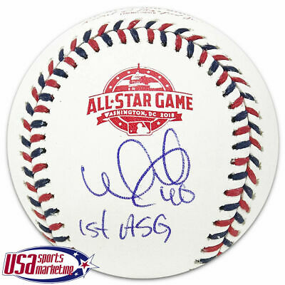 74c4a69bb42 Willson Contreras Chicago Cubs Autographed 2018 All Star Game Baseball JSA  Auth