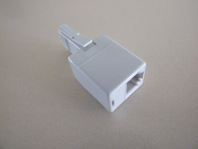 GPO Post Office BT Socket to RJ11 Plug 4 Pin Telephone Phone Cable Adaptor Conve