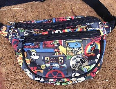 7904a2ecaa Vintage Mickey Mouse WALT DISNEY Fanny Pack Hip Pack Nicole Miller 1990s