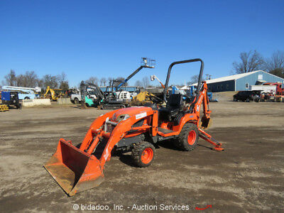 2012 Kubota BX25D 4WD Backhoe Wheel Loader Ag Tractor 23HP PTO 2-Spd bidadoo