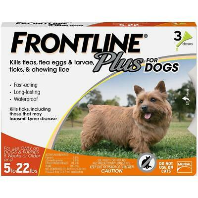 FRONTLINE Plus for Small Dogs, Flea and Tick Treatment, (6 doses)