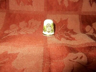 cute little owl thimble gold band around bottom by oakley