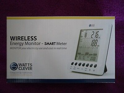 Watts Clever,wireless Energy Monitor-Smart Meter,looks Mint,and Unused In Box.