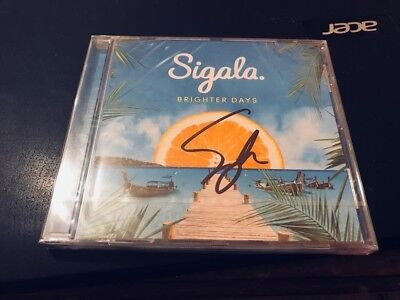 Sigala--Brighter Days---Autographed,handsigned----New--- Uk Cd Album