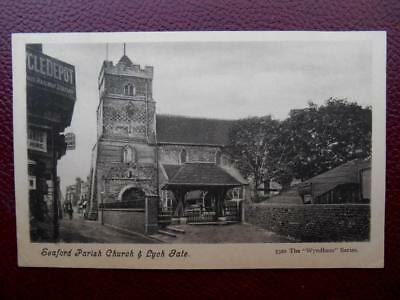 Church SEAFORD Sussex 1909 Miss M Dean Eastnor Lodge Wray Park Road Reigate