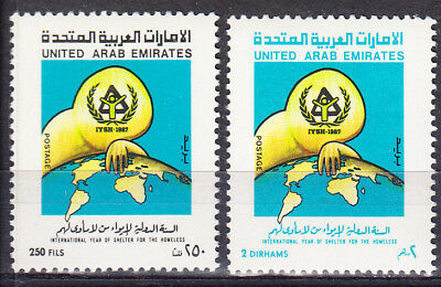 United Arab Emirates 0237-238 Mh Shelter For The Homeless Mint Hinged Set
