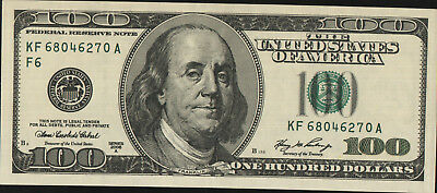 USA $100 Bank note Series F6- 2006 UNC forgery 100 Green Become Black when moves