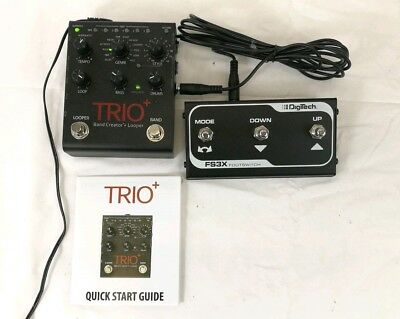 Digitech TRIO+ Band Creator mit Looper inkl. Footswitch FS-3X