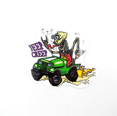 Rat Fink Big Daddy Vinyl Decal JEEP CREEP Hot Rods Ed Roth Car Stickers