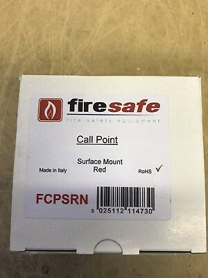 Firesafe Conventional Surface Mount Red Call Point Brand New Boxed Bargain £5