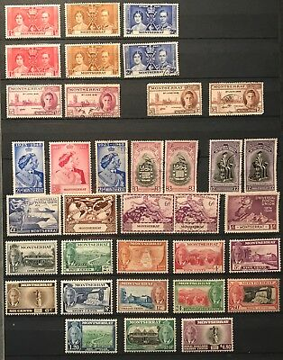 Montserrat 1937-1951 mint and used collection. Incl some MNH high values