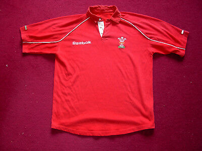 Reebok Retro Wales Home Rugby Shirt/top/jersey/adult small/medium 44 inch chest