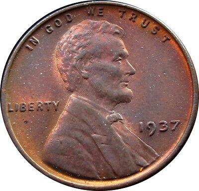 1937 Wheat Penny Choice GEM Unc RB Condition Date - Z - X.M