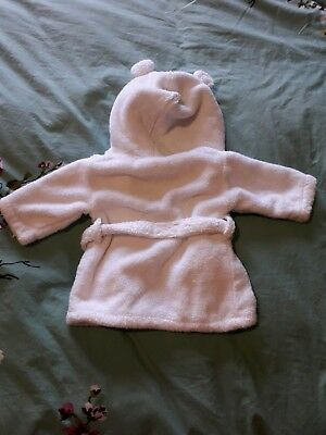 The little white company Baby Bath Robe 0-6 months