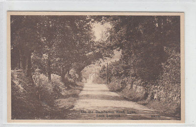 On The Dumbarton Road Luss Loch Lomond Early 1900's Old Postcard Unposted