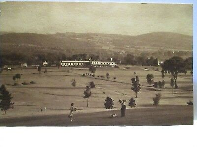 "1940s PHOTO POSTCARD  GOLFERS "" THE IBM COUNTRY CLUB , ENDICOTT NY "" BIO UNUSED"