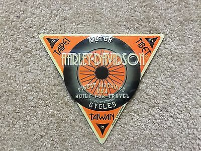 "Harley Davidson ""Built for Travel"" Tin sign new"