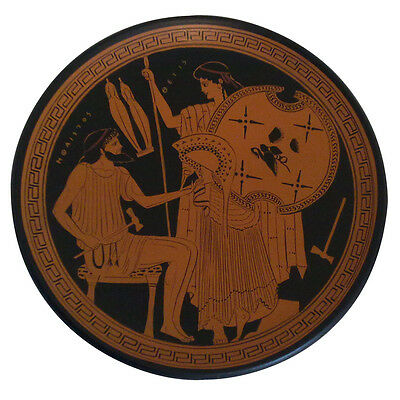 Hephaestus gives Thetis arms of Achilles Homeric Trojan War Greek plate replica