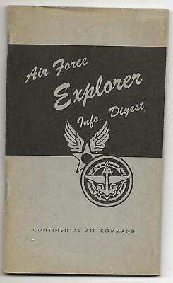 "1951 - "" AIR FORCE EXPLORER info DIGEST "" - Mitchel - Boy Scout BSA G&W/12-10"