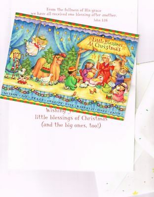 Leanin' Tree Box of 10 Christmas Cards: Kids Christmas Pageant Play Little Bless