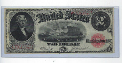 Large 1917 $2 Two Dollar Bill United States Note A83840042A WOW Crispy !! JSH