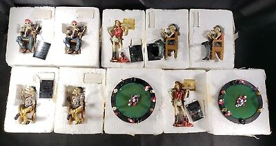 Lot Of 10 Hamilton Collection Crypt Poker Limited Edition Figurines