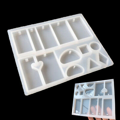 Silicone Mold Resin DIY Jewelry Pendant Necklace Tool Mould Craft Polymer White