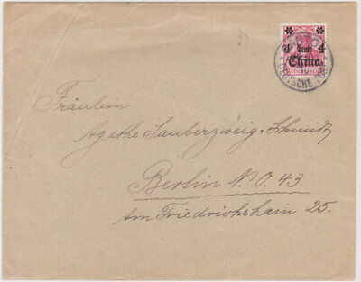 """GERMANY P.O. CHINA 1910 (14.10.) COVER PM """"Canton"""" TO BERLIN Mi 30"""