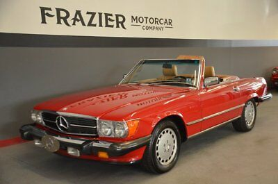 1989 Mercedes-Benz 560SL  19980 ACTUAL MILE ONE OWNER SIGNAL RED/PAL LAST YEAR PRODUCTION 560SL