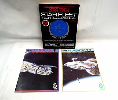 3X STAR TREK MANUALS Including Star Fleet Technical Manual  - W47