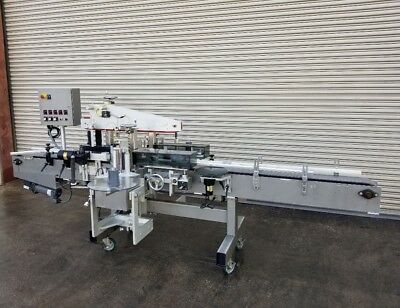 Universal Front, Back Pressure Sensitive Bottle Labeler, Labeling Machinery