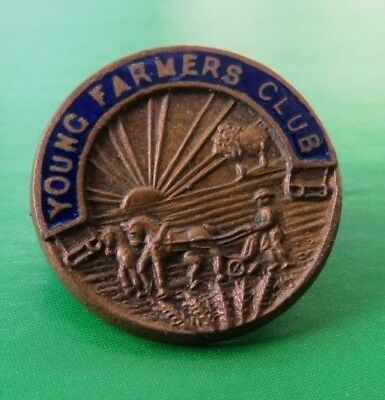 YOUNG  FARMERS'  CLUB <>  *  t i n y *  VINTAGE LAPEL BADGE <> FATTORINI & SONS