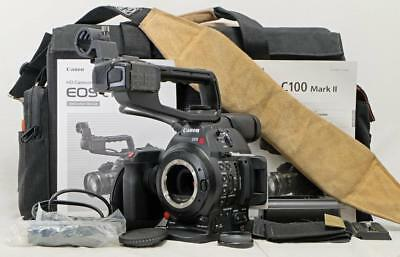 Canon C100 Mark II Camera Body Bundle - CLEAN - Used ONLY 139 HOURS! (0777)