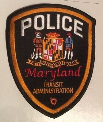 Police Uniform Shoulder Patch. Maryland Transit Administration Police.