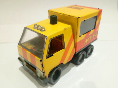 Vintage tin plate toy truck Russian 1970's 80's collectable/  social history