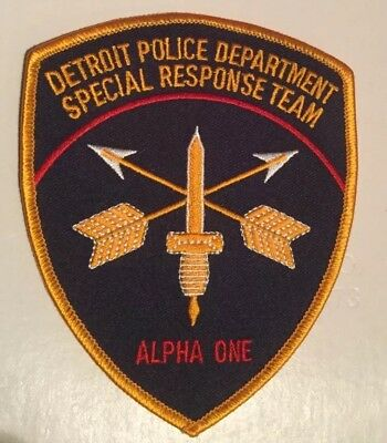 Detroit Police Department Special Response Team Alpha One Patch