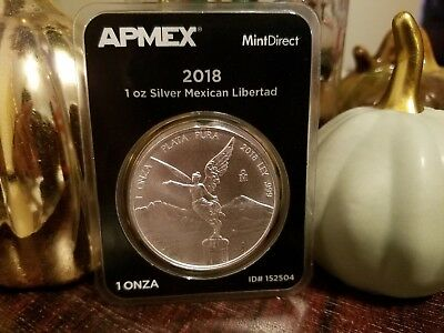 2018 1 oz Silver Mexican Libertad  Coin from MintDirect Apmex in TEP packaging