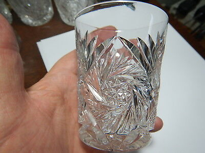 American Brilliant Cut Glass tumbler stunning pattern estate collection