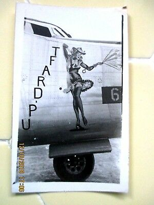 6 Vintage Photos WWII Philippines 3 Nose Art 3 of a Bridge Guns Planes Seebe's